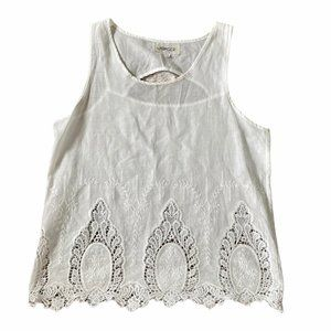 The Hanger Sleeveless Embroidered lace Blouse L